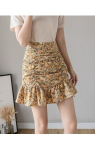 KSK036515K High waist ruffle skirt