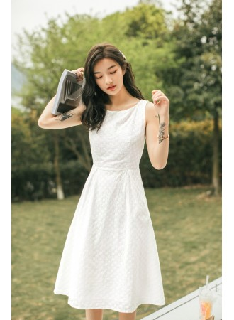 KDS09229D Embroidery midi dress REAL PHOTO
