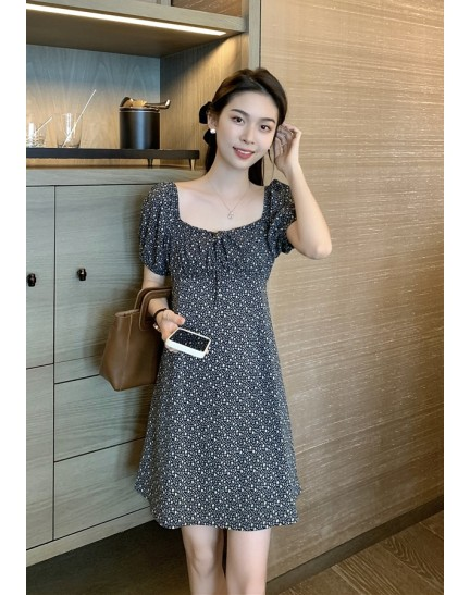 KDS092619Y Floral mini dress REAL PHOTO