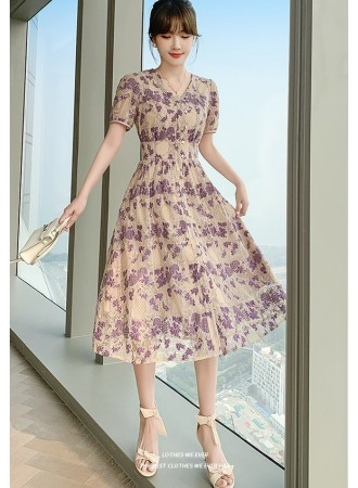 KDS108538Y High waist full lace dress